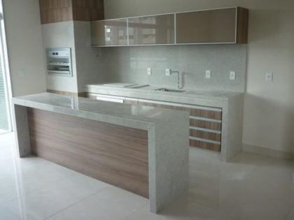 Balcão de cozinha com GRANITO modelos de madeira e mais | Facil Decore