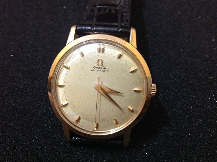 Catawiki online auction house: omega automatic cal 501 gold 18 kt men's watch year 1956