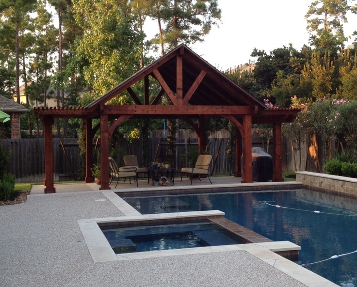 Poolside Pergola Pavillion Combination Pergolas And