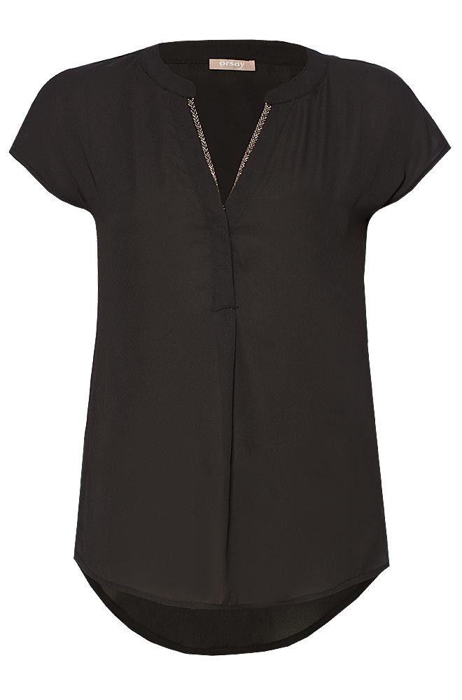 Bluse mit V-Ausschnitt