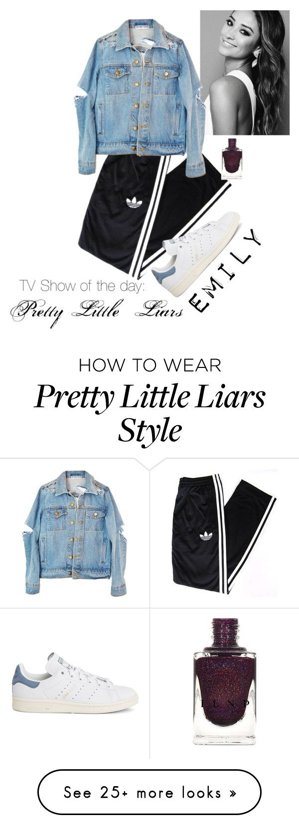 """TV Show of the day: Pretty Little Liars; Emily"" by better-luck-next-time on Polyvore featuring adidas Originals and adidas"
