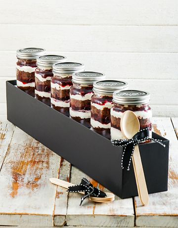 6 Black Forest Cupcake Jars. Cupcake in a jar deliciousness