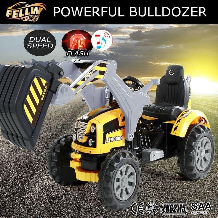 Ride On Excavator Sand Digger Loader Toy Tractor Car Children Kids Pretend Play