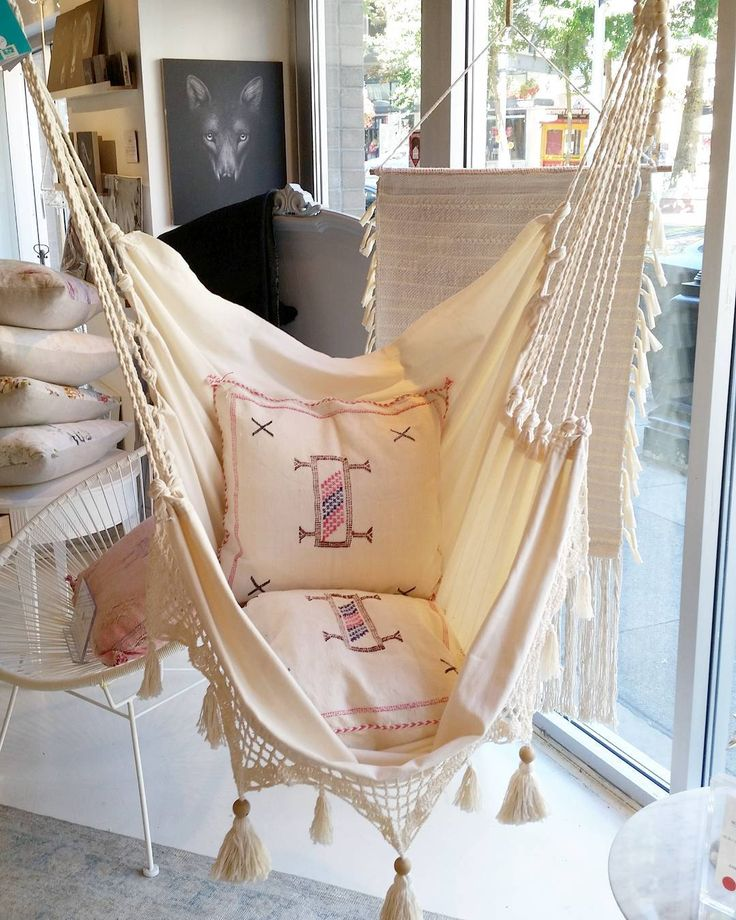 Its almost September...yikes!  Summer doesn't have to end!  You can easily swing in this Hammock indoors also while we patiently wait for next Summer🌴🌞  .  .  #gastown #cordovastreet #smallbiz #shoplocal #hammock #designer #design #bohostyle #bohovibes #bohodecor#beachyfeels#interiorstyling #whitespaces#chill
