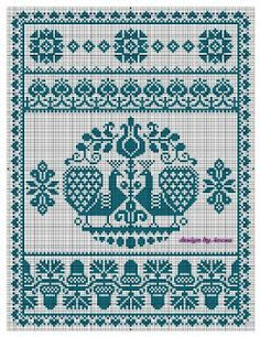 scandinavian cross stitch patterns free - Szukaj w Google