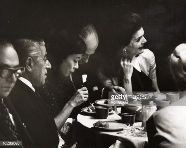 jackie kennedy and aristotle onassis | Jackie Onassis At Szechuan Taste Restaurant In Chinatown | Getty ...