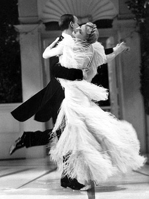 Fred Astaire and Ginger Rogers. I need to make Trevor take ballroom