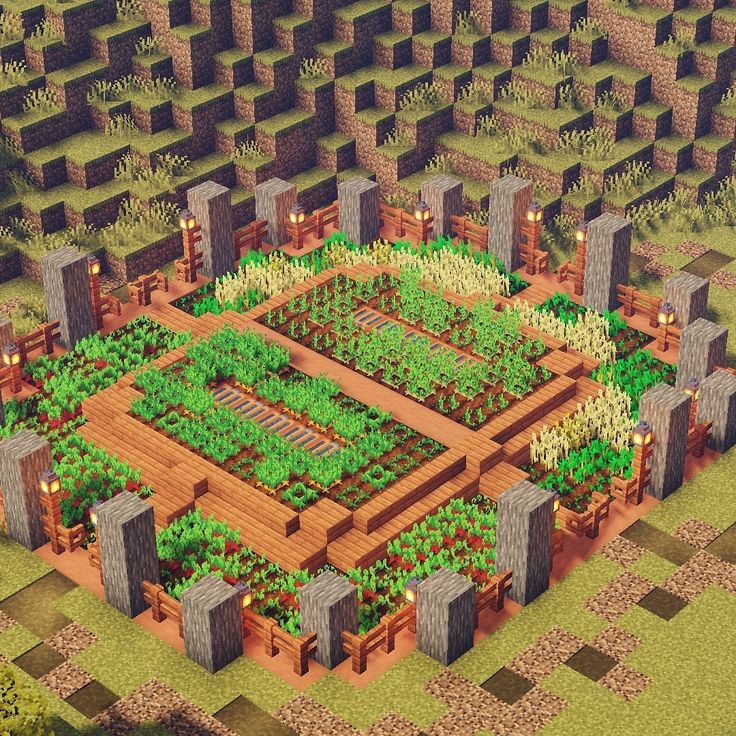 "SpiderBoy // Minecraft Builder on Instagram ""Small farm"
