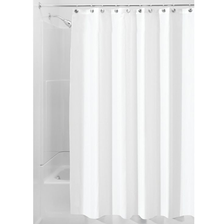 AmazonSmile: InterDesign 84 Inch Fabric Waterproof Long Shower Curtain Liner,  White: Home