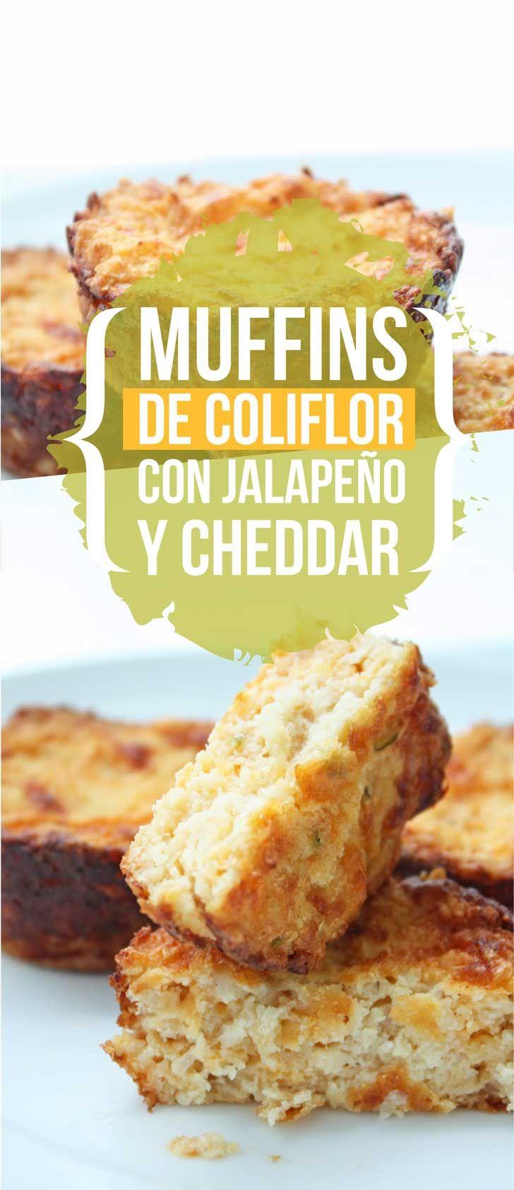 Muffins de coliflor con jalapeño y cheddar ¡Bajos en carbohidratos y libres de gluten! | Upsocl