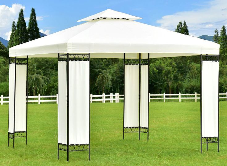 10 x 10 Party Tent Gazebo Canopy Wedding Event Screen legs Rentals Steel Frame  #evirtualdeals
