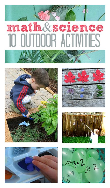 10 Math & Science activities for kids that you can do outside. #STEM