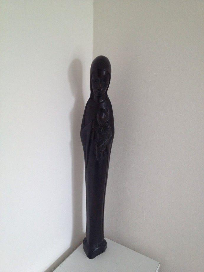 Wood carved statue representing Virgin Mary ♦♦ Statua intagliata nel legno rappresentante la Madonna 68€