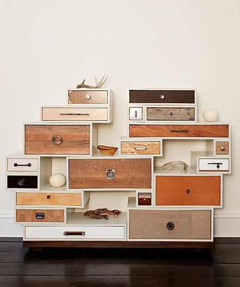 """artistic storage solutions.  a place for everything!  i am just the type that needs that many """"junk drawers"""""""