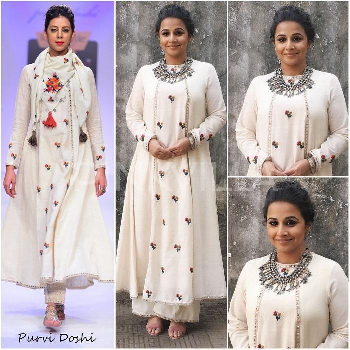 Celebrity Style,vidya balan in Purvi Doshi,