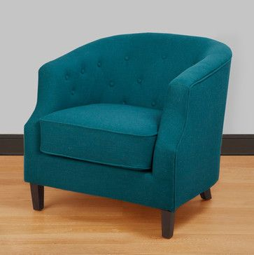 Ansley Peacock Blue Tub Chair - contemporary - Armchairs And Accent Chairs - Overstock.com