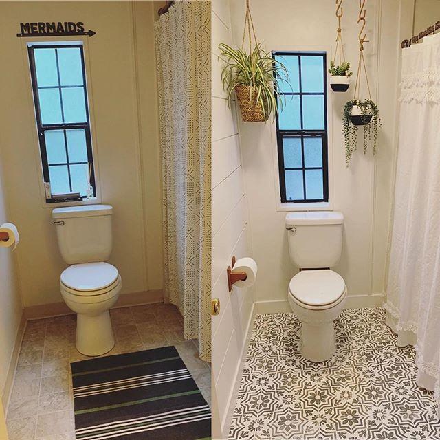 Verona Tile Stencil In 2020 Small Bathroom Bathroom Styling Budget Bathroom