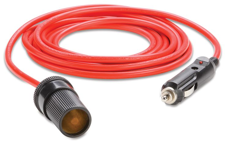Plug in your 12 volt cooking appliances, coolers, heated blankets, or any 12-volt to this heavy-duty 12-foot extension cord to extend your reach. The car cigarette lighter adapter is great for auto vacuums, tailgate parties, 12 volt tire air compressors, power inverters and more.