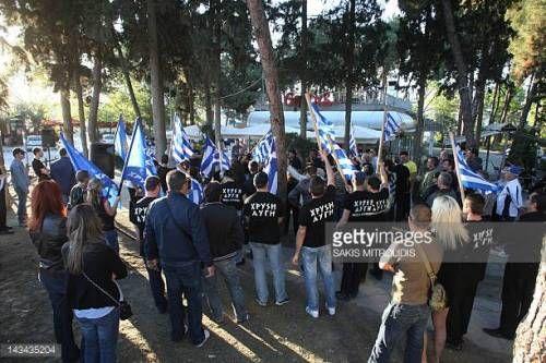 07-23 Members of the 'Golden Dawn' far-right... #peraia: 07-23 Members of the 'Golden Dawn' far-right political organization take… #peraia