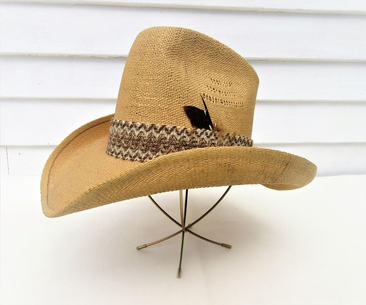 Vintage Western Hat | Straw Hat | Resistol Cowboy Hat | Size 7 by WhimzyThyme on Etsy