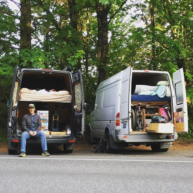 One of the best things about meeting other people with Sprinter vans is their approach to life - they're always down for outdoor fun. Wanna go climb? Mountain bike? Trail run? Shoot waterfall photos for an afternoon? Yes to all said @scottrokis. (His van's action-packed #geargarage is the one on the right.) So I played local tour guide and we did all of it! #vanlife by traipsingabout