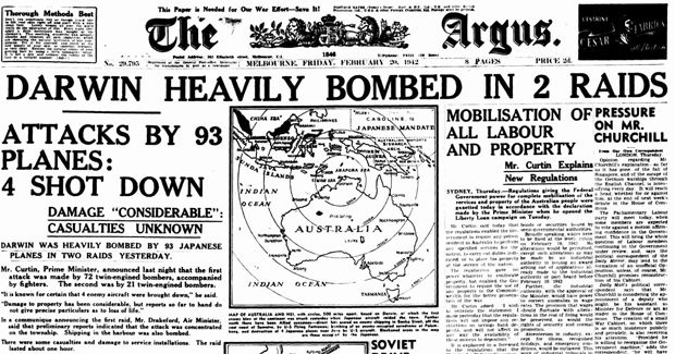 WW2 - The Bombing of Darwin Australia by Japanese