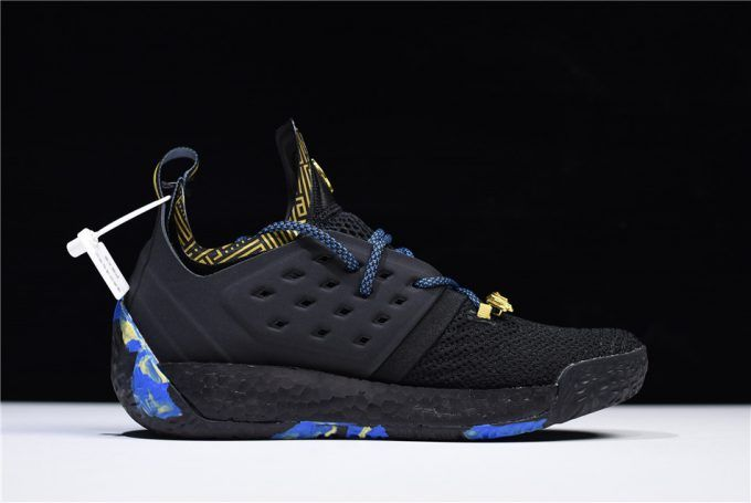 41d8fb9d28ccb0 James Harden s adidas Harden Vol. 2 MVP Core Black Gold Metallic Trace  Royal Shoes-5