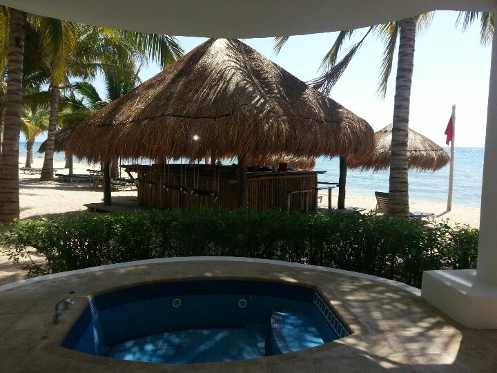 #Jaccuzi overlooking the #Ocean #beachview #sunscapesabor in #cozumel
