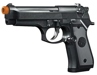 Beretta 92FS, Electric 16rd Black   This Beretta replica is a battery powered semi/full automatic airgun with a metal barrel. This beautiful 92 FS will prove helpful while shooting targets. $26.83 - www.Rgrips.com