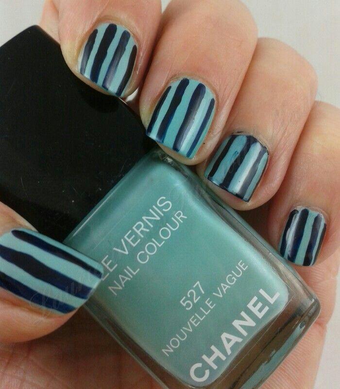 GOT #2: Stripes. Chanel Nouvelle Vague and Blue Satin.