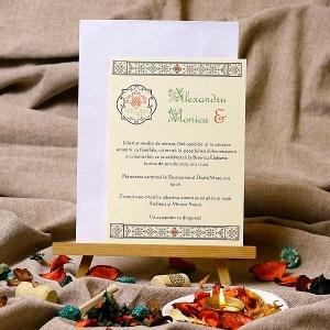 Catrinel - invitatii de nunta traditionale romanesti