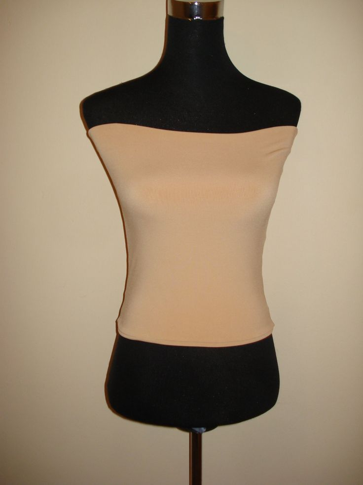 Light camel soft touch bandeau top boob tube crop vest top by stitchawayrose on Etsy