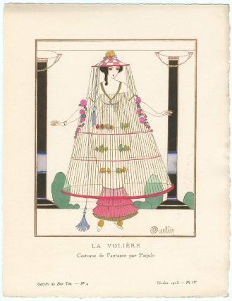 """Charles Martin, """"La Volière - Costume de Fantaisie par Paquin,"""" French, February 1913."""