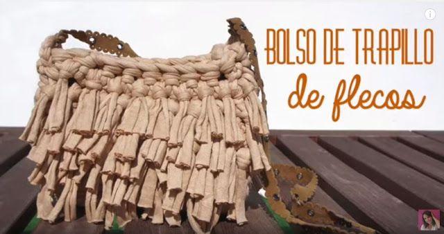 Tutorial #101: Bolso de Trapillo con flecos - Video Paso a Paso | CTejidas [Crochet y Dos Agujas]