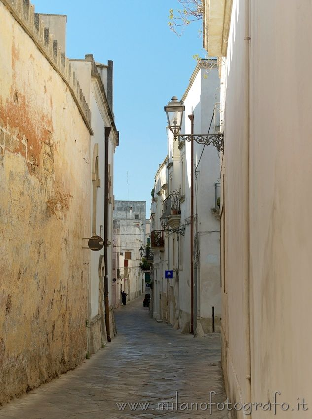Street in the old center of Galatina (Lecce, Italy)