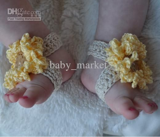 Free Crochet Pattern For Baby Barefoot Sandals Pakbit For