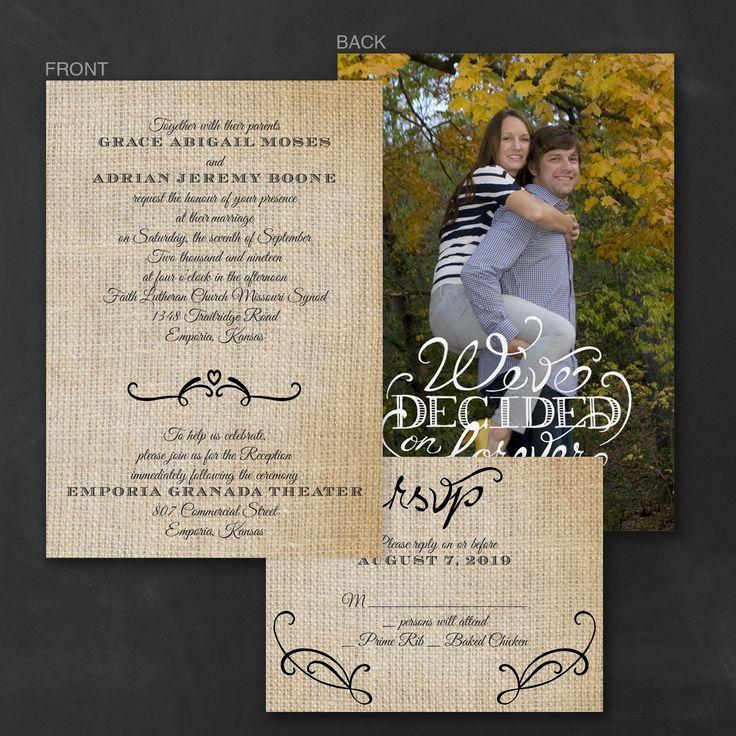 deer hunter wedding invitations%0A Love Burlap  ValStyle Invitation  u   e Wedding Invitations   Carlson Craft  Wedding  u     Stationery Products
