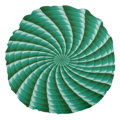 "Throw Pillow (16"") Art Patterns Waves Textures fun Round Pillow"