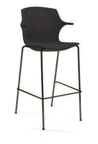 Straxs Nederland | Nieuw in de serie Frill/No-Frill een bij de stoelen passende barkruk. Vierpoot frame van ronde buis in chroom,wit of grijs gepoedercoat. De kruk is aan de onderkant voorzien van een nette afwerkplaat waardoor de stoel goed stapelbaar is. De kruk is er met en zonder armleggers.  Frill Kruk, 57 cm, 109 cm, 73 cm, polypropyleen, 57 cm, 9 kg, ijs blauw, grijs blauw, rood oranje, wit, citroen geel, zand, antraciet, ja