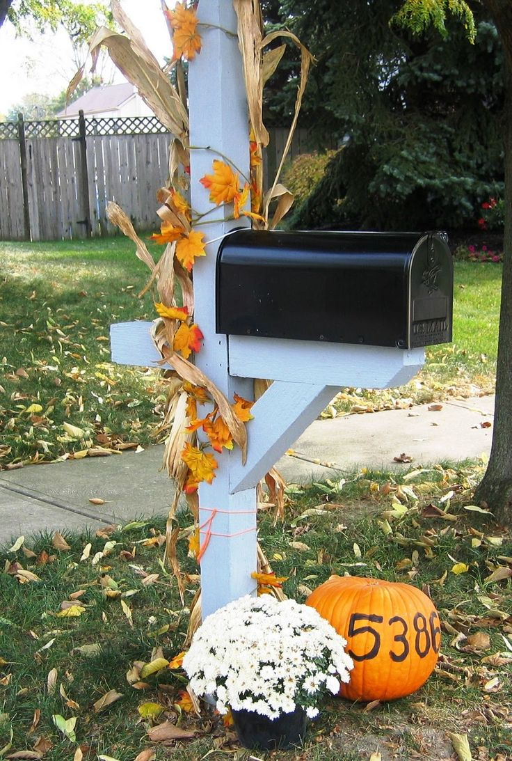 decorate your mailbox for fall