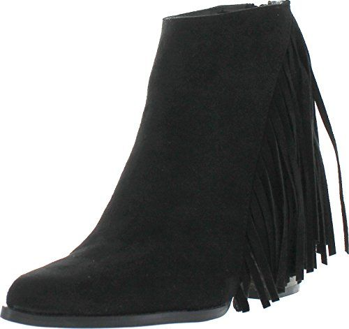 Qupid Tilt-01 Women Pointed Toe Back Zip Side Fringe Stacked Chunky Ankle Bootie:   Qupid is a fashion shoe brand based in California. Qupid shoes offer a wide array of styles including heels, wedges, flats, shoes, sandals and boots.