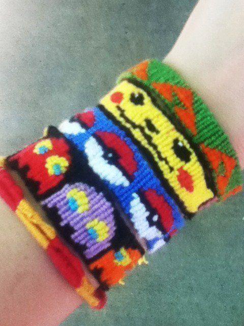 Unique friendship bracelets: Zelda, Pokémon, Pacman, Harry Potter