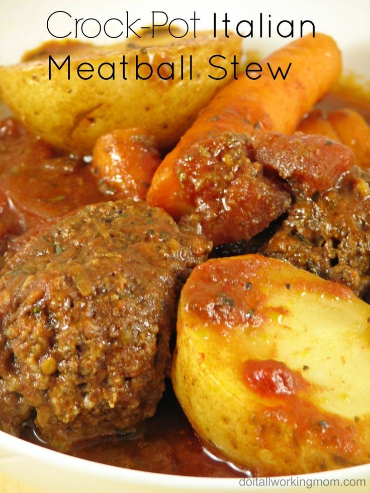 Came up with this amazing recipe: Crock-Pot Italian Meatball Stew. It's delicious, really easy to make, inexpensive and kids approved. A must try!