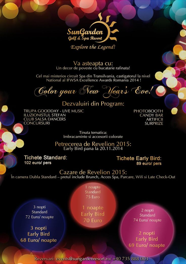 The best New Year's Eve Party in Transylvania! http://www.sungardenresort.ro