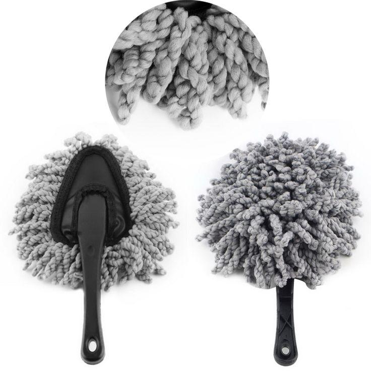 1 piezas de múltiples funciones de Suciedad Limpie El Polvo Del Cepillo Para Polvo Herramienta de Limpieza Mop Plumero Coche Cepillo Gris AJ