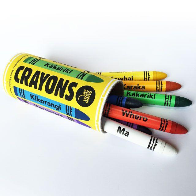 Crayons in Maori