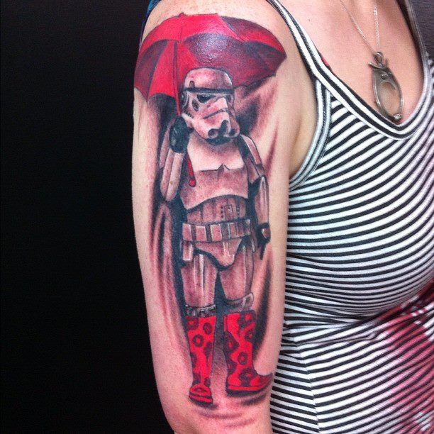 stormtrooper in the rain