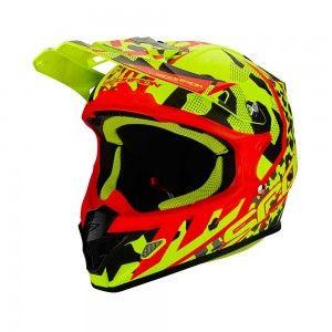 Scorpion Crosshelm VX-21 Air Furio Neon Yellow/Black/Red