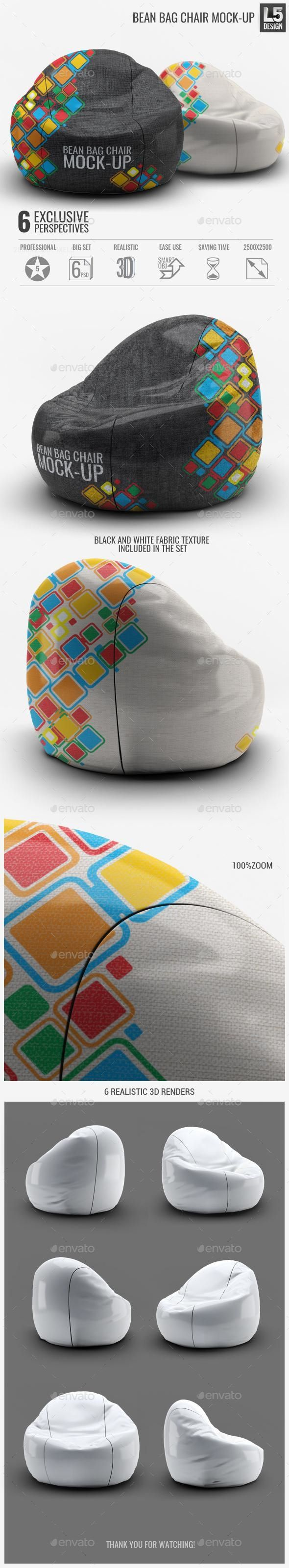 Includes special layers and smart objects for your creative works. Bean Bag Chair Mock Up Bean Bag Bag Mockup Mockup Design