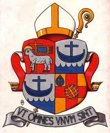 Det första fältet i Sven-Bernhard Fasts heraldiska biskopsvapen innehåller Visby stifts vapen – lammet med segerfanan, den segrande kärlekens bild.
